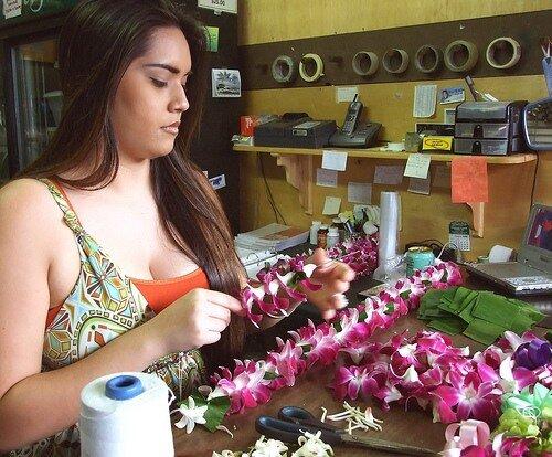 леи изготовление гавайи