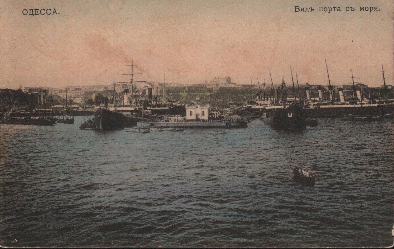 Вид порта с моря