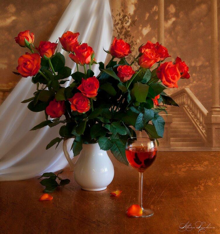 добрый вечер картинки букет роз содержит общую