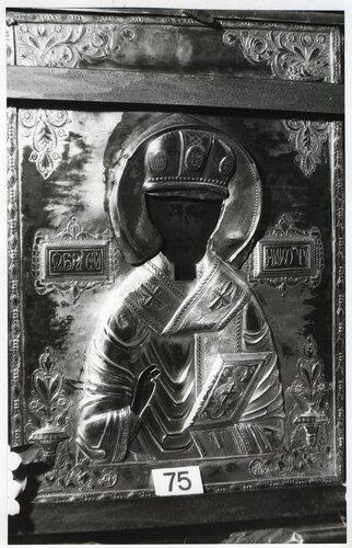 <a href='http://img-fotki.yandex.ru/get/5011/kostroma-archive.8/0_59415_7c187d93_orig.jpg'>Образ святителя Николая Чудотворца на обратной стороне Игрицкой Смоленской иконы Божией Матери. [кон. XVIII в.] Фото 1989 г. Автор В. Савельев.</a>
