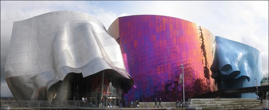 Музей истории музыки и Музей научной фантастики в Сиэтле
