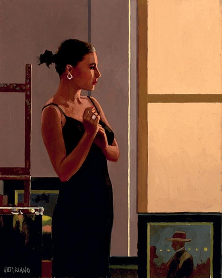 Jade In Black, by Jack Vettriano