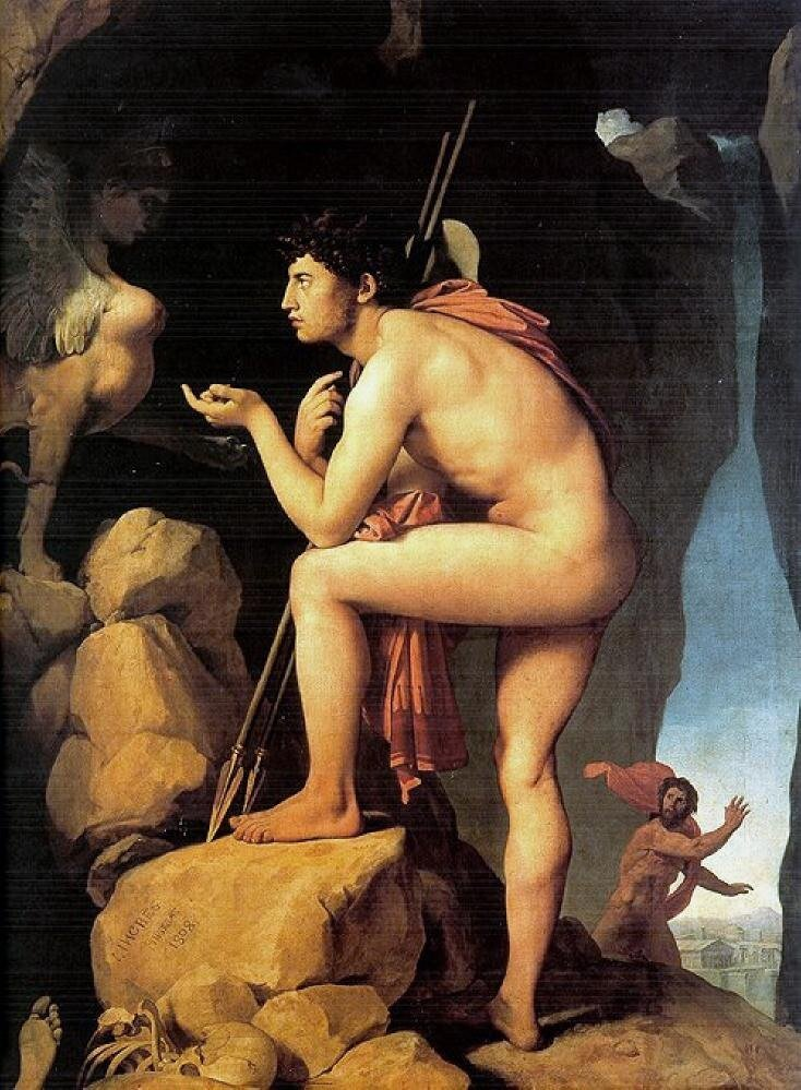 Энгр, Эдип и сфинкс,1808 г.,Oedipus et Sphinx,