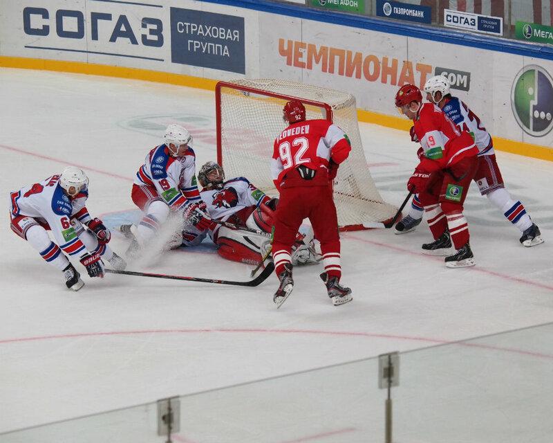 «Спартак» vs «Лев» 4:3 чемпионат КХЛ 2013-2014 (Фото)
