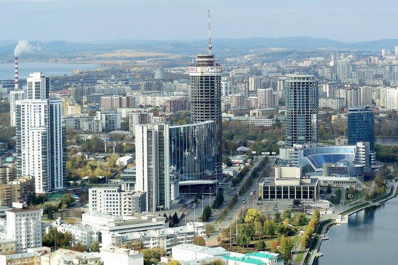 Екатеринбург. Вид с небоскрёба.