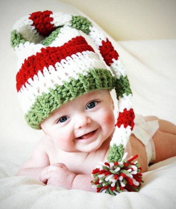 Вязание колпак для малышей 22