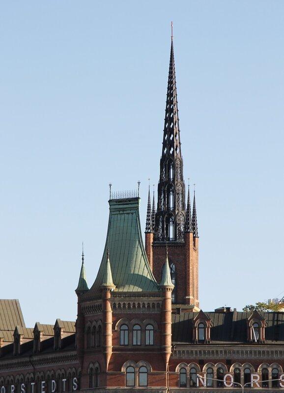 Стокгольм. Stockholm. Риддархольмская церковь Riddarholmskyrkan