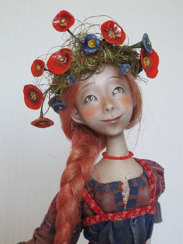 Harvest Time – art doll by Anna Zueva