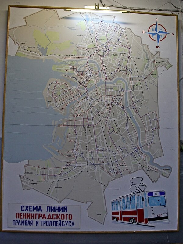 Схема линий Ленинградского трамвая и троллейбуса IMG_8770