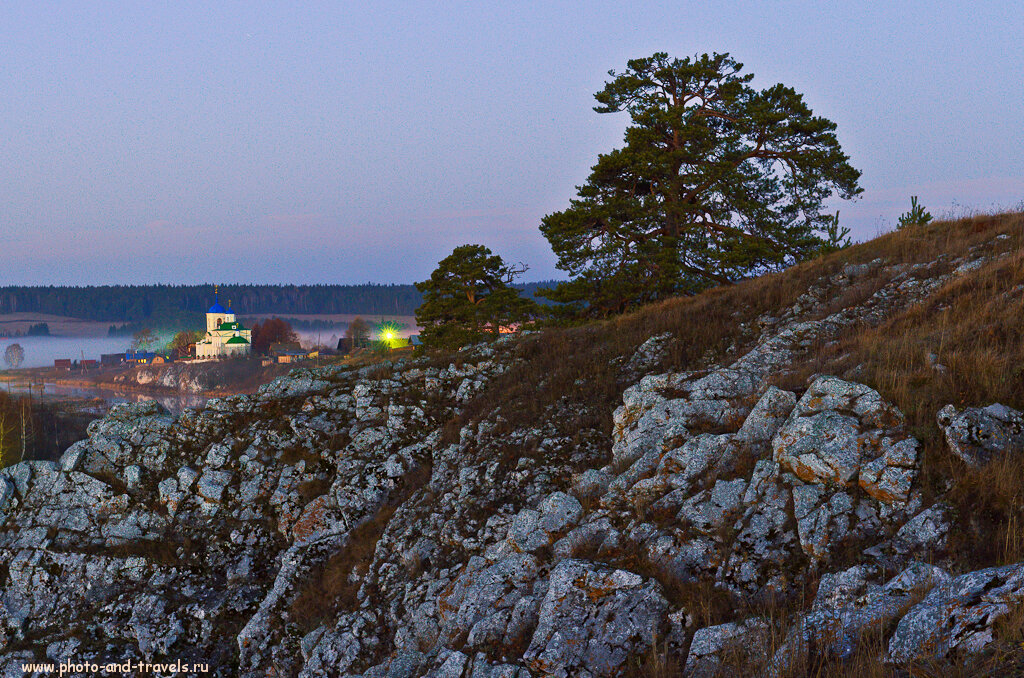 Панорама из 8-ми кадров, снятых на зеркалку Nikon D5100 с репортажным зумом Nikon 17-55mm f/2.8 (настройки: F/8, ФР=38 мм, t=30 секунд, ISO 100)