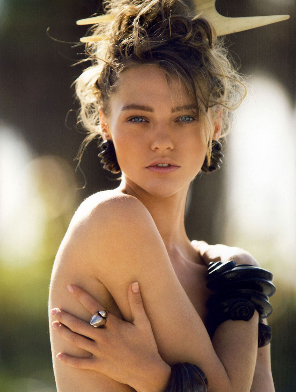 модель Саша Пивоварова / Sasha Pivovarova, фотограф Hans Feuer