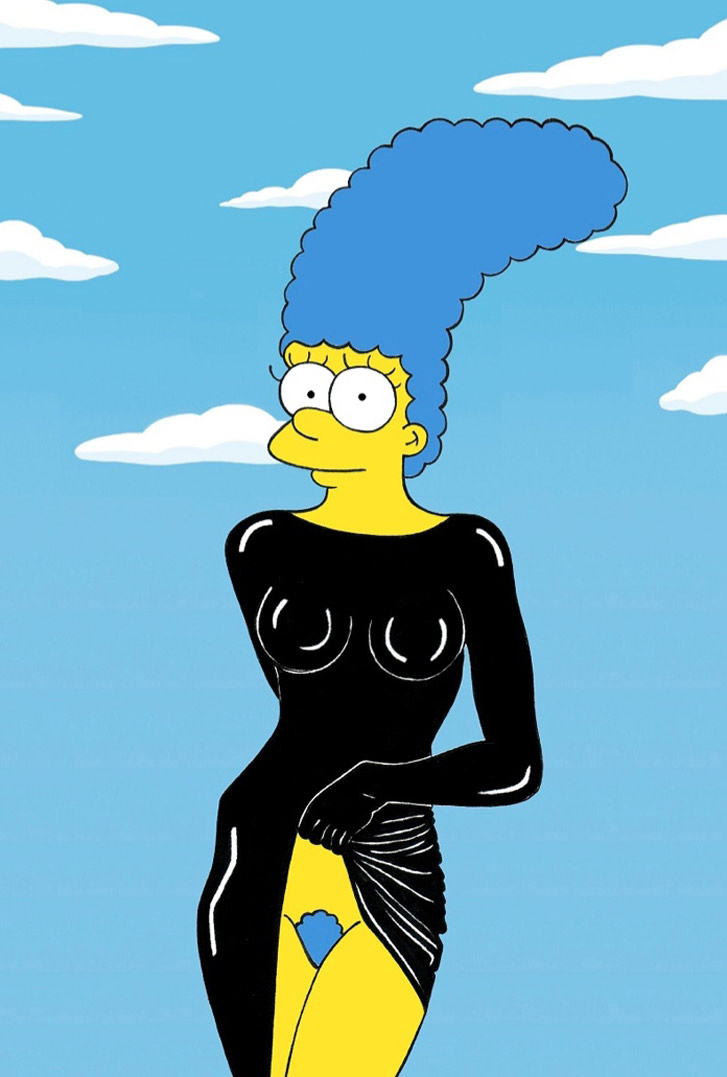 Marge Simpson as a Stephanie Seymour - Style Icons in aleXsandro Palombo illustrations