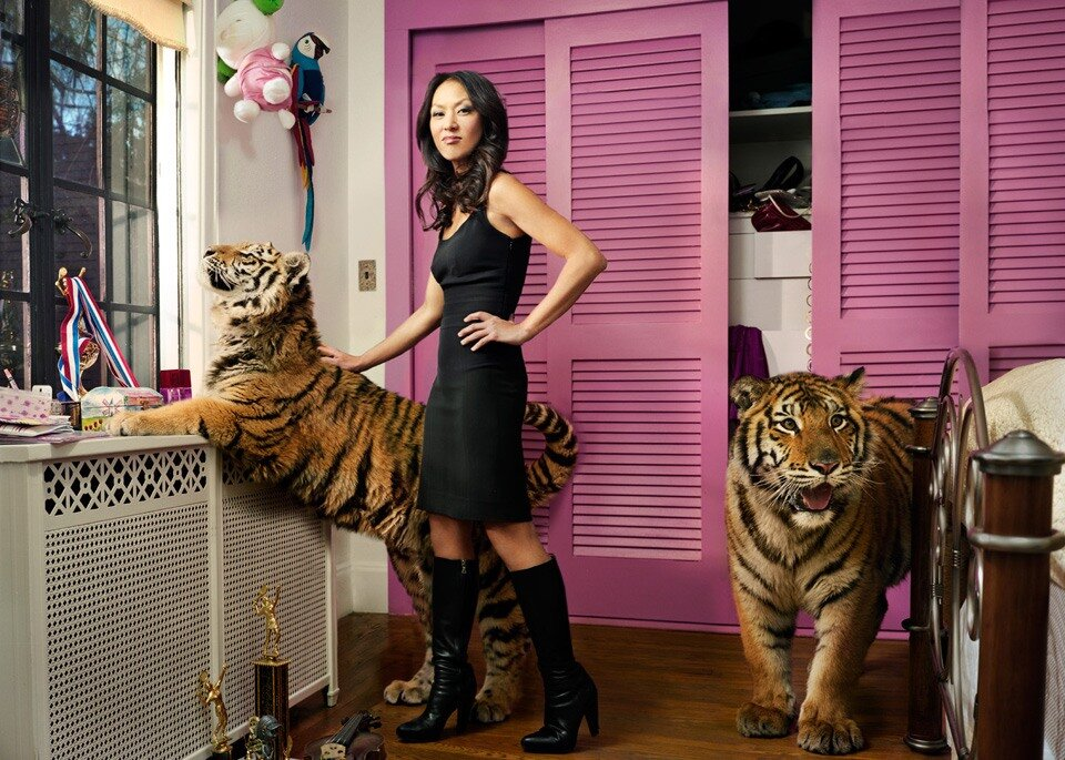 Photographs by Martin Schoeller.Amy Chua, author of Battle Hymn of the Tiger Mother