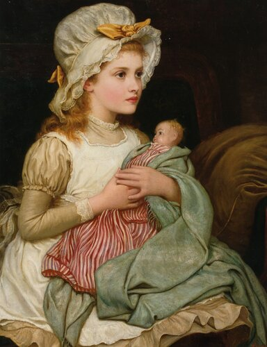 A Young Girl with her Doll