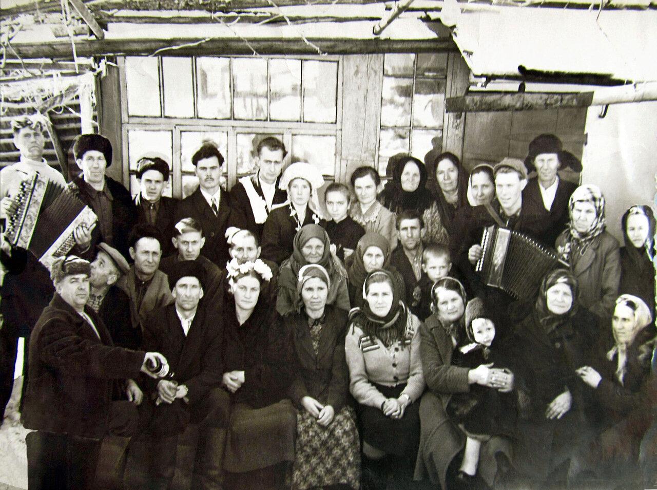 1958. Деревенская свадьба.