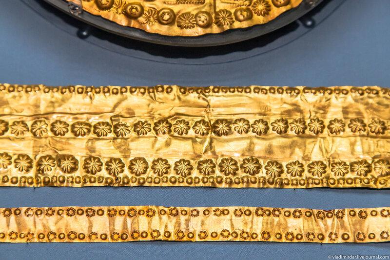 Золотые орнаментальные ленты
