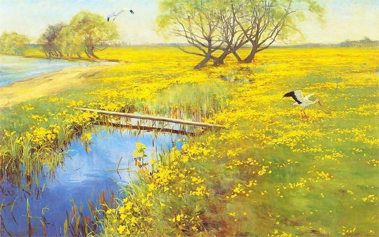Весна, 1911, Вейсенгоф, Генрих (1859-1922)