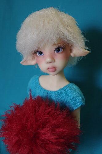 Мастер-класс короткого парика для BJD куклы за 15 минут