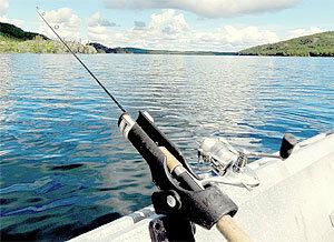 Ловля рыбы на дорожку