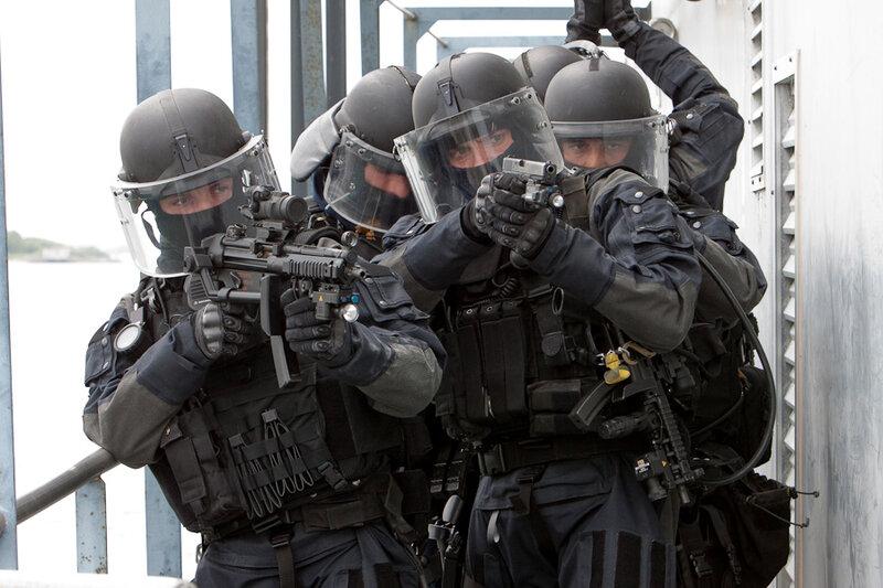 Pour cette exercice le commando TREPEL s'empare d'un bateau suspecté d'une présence terroristes.