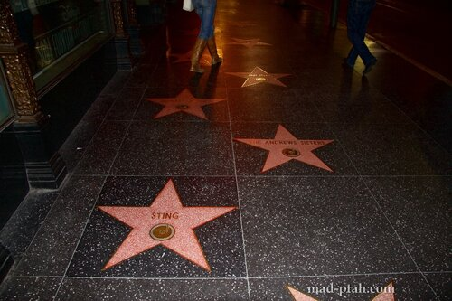 аллея звезд, аллея славы, голливуд, лос-анджелес