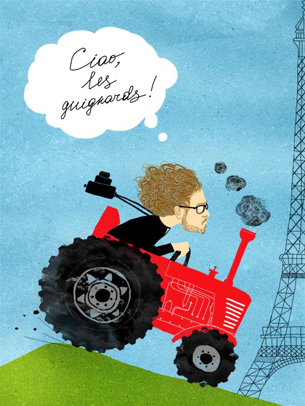 Андрей Ковалёв валит из СР на сраном тракторе.