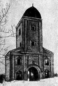 Рисунок 64. Водонапорная башня в селе Коломенском (И. Грабарь).