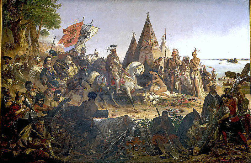 «Открытие Миссисипи», американское полотно 1847 года..jpg