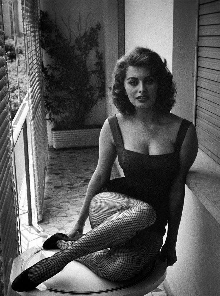 Sophia Loren photographed by David Seymour.1955