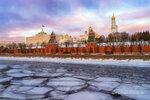 Лед у Московского кремля