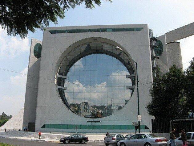 Здание-стиральная машина (Calakmul building). Мехико, Мексика