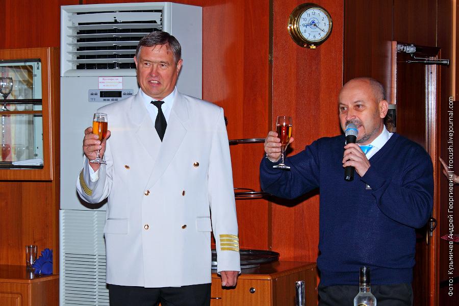 капитан теплохода «Александр Бенуа» Гражданинов Павел Иванович, директор круиза Загребельный Сергей Васильевич