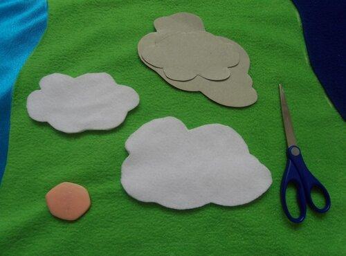 Облака для развивающего коврика... лента-контакт