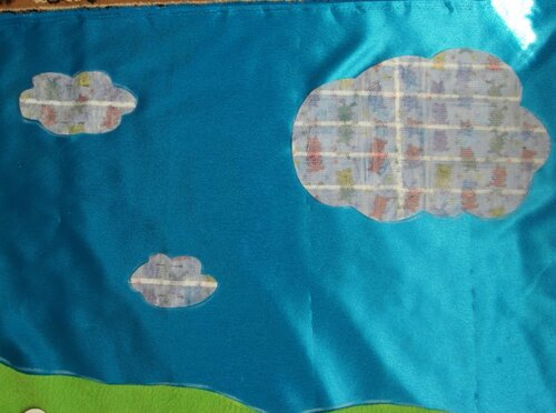 Небо для развивающего коврика... контактная лента-липучка