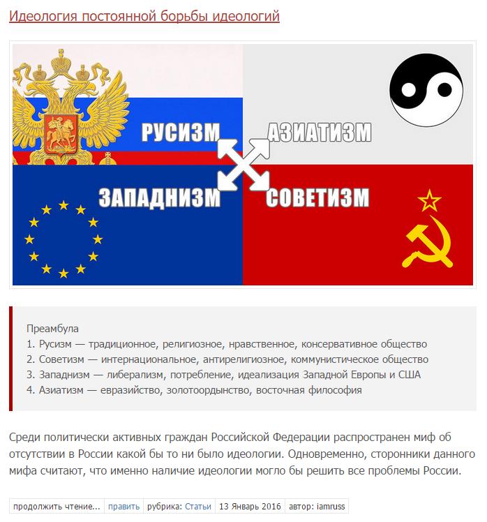 скриншоте какая идеология подходит для россии вечерние прогулки драйв
