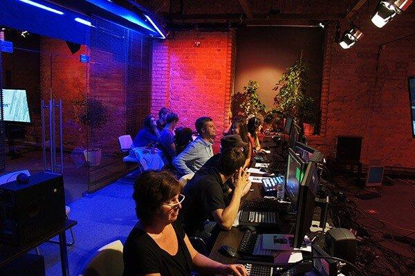 Команда Minaev LIVE после окончания эфира