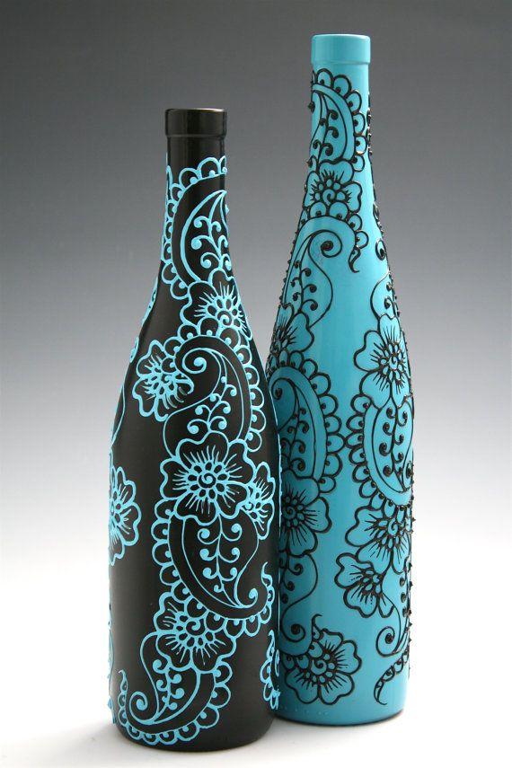 Как своими руками раскрасить бутылку