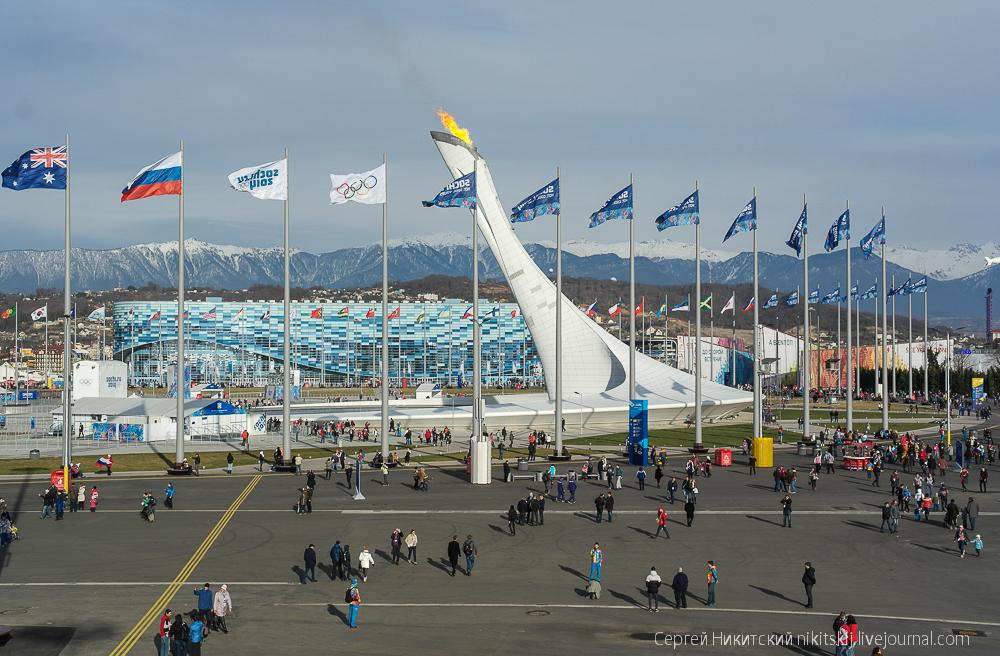 фото олимпийского парка в сочи сейчас день для
