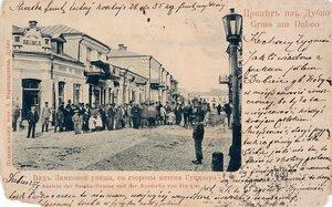 Дубно. Вид Замковой улицы, со стороны аптеки Гукклера