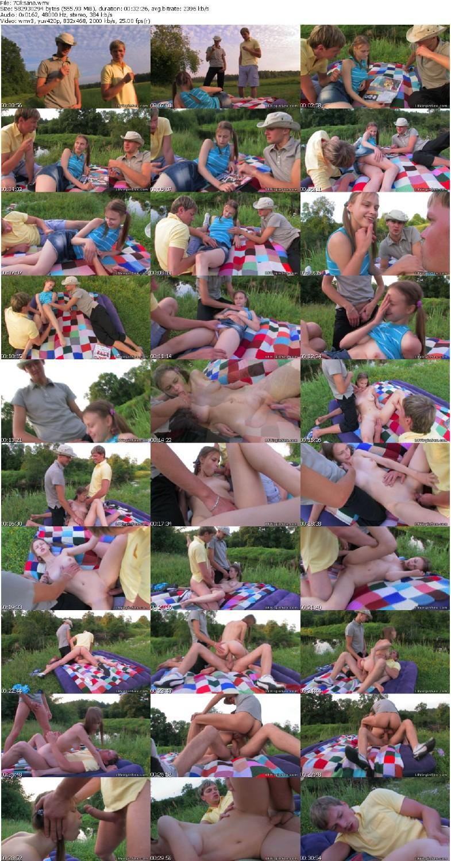 Трахнули на полянке 19 фотография