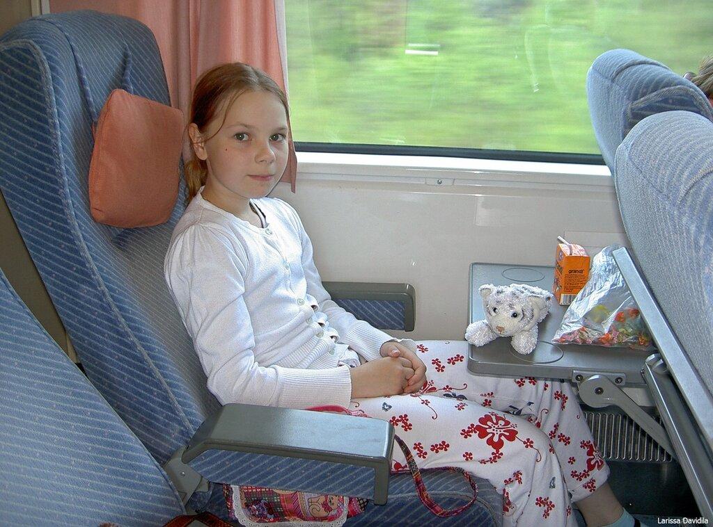 В поезде, по пути в Хельсинки.