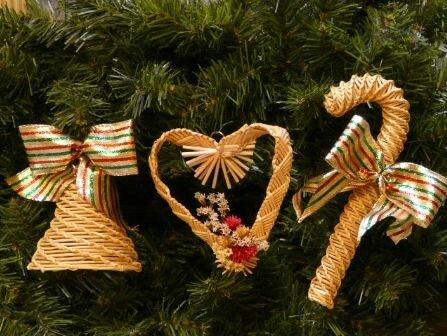 Новогодние игрушки из соломы
