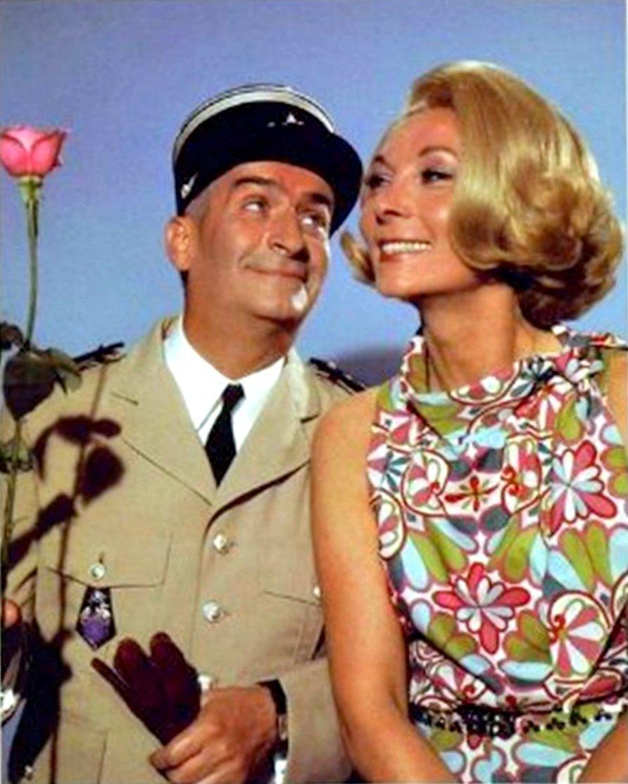 Луи де Фюнес с женой кинематографической. 1 (2).jpg