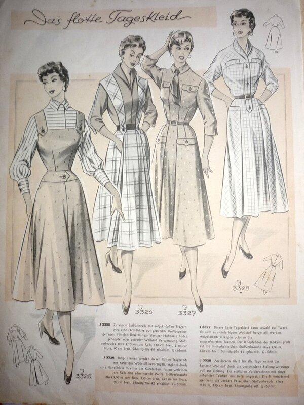 мужской женский фасоны платьев из немецких журналов мод