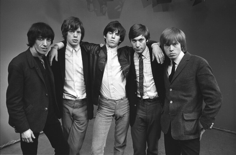 Rolling Stones before lunch pose for group photo, London, 1963