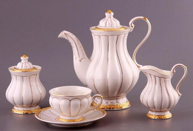 Чайный сервиз Версаль на 6 персон, китайский фарвор с золотой росписью