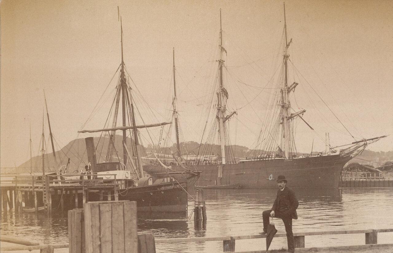 «Кора» на реке Нида (1893)