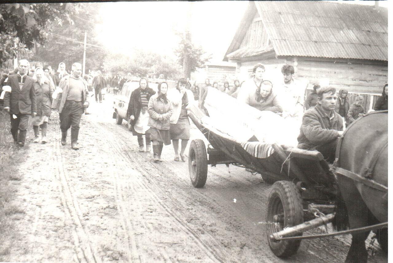 1976. Скребеличи. Скорбная процессия
