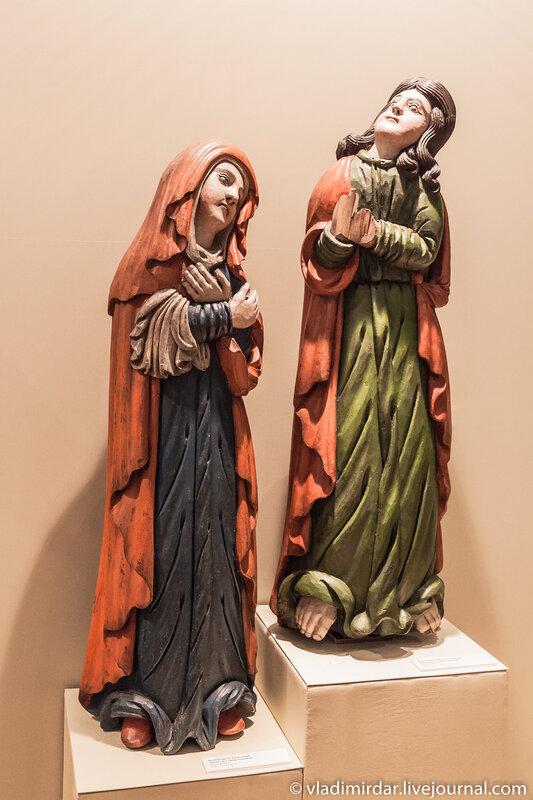 Предстоящие Богоматерь и Иоанн Богослов. Конец XVIII века. Из композиции «Распятие с предстоящими».