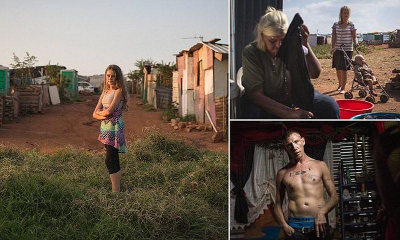 Белое гетто: в ЮАР белые люди живут в трущобах
